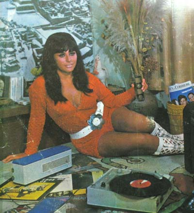 Al Compas De Mis Recuerdos album cover lady detail