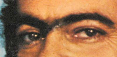 The strong eyes of Lindomar Castilho.