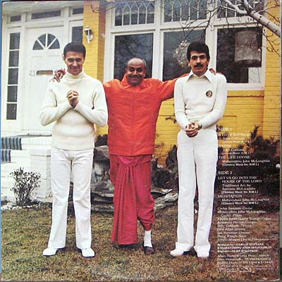 Sri Chinmoy with Santana and McLauglhlin