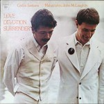 Santana and McLaughlin Love, Devotion, Surrender album cover