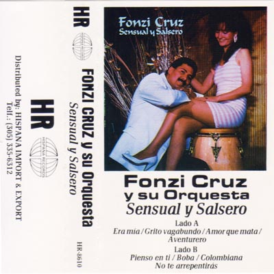 Fonzi Cruz record cover for Sensual y Salsero
