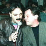 Halid Beslic and another singer about to kiss