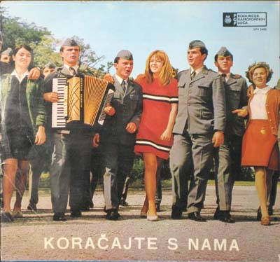 Yugoslav military music album cover