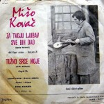 Miso Kovac record cover for a single Za tvoju ljubav sve bih dao