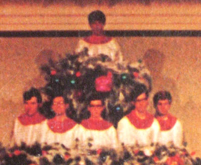 Jerry Falwell The Living Christmas Tree record cover detail