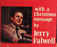 Jerry Falwell The Living Christmas Tree record cover,  Christmas Message