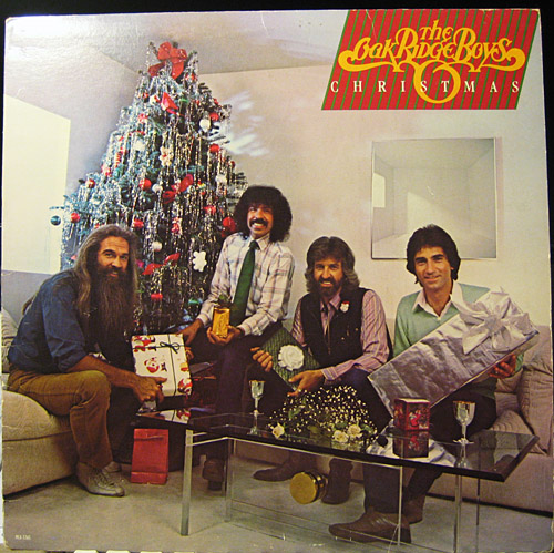 The Oak Ridge Boys and sad Christmas record cover.