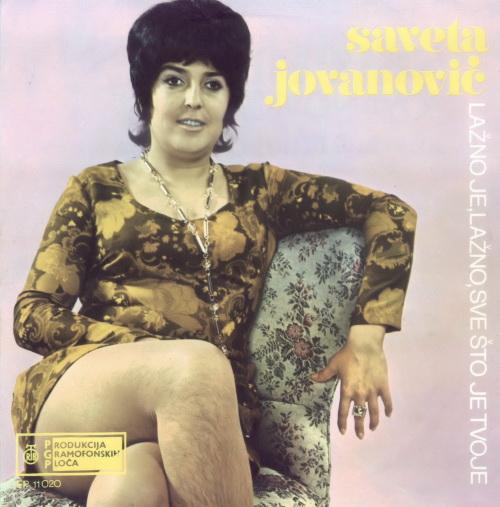 Record cover for hairy legs Savetoa Jovanovic single Lazno je sve sto je tvoje