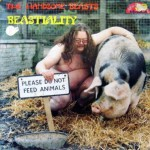 Naked fat man with a pig is on this record cover.